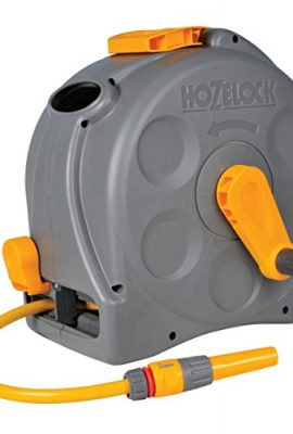 Hozelock-2-in-1-Compact-Enclosed-Hose-Reel-with-25-m-Hose-and-Connectors-Assorted-GreyGreen-0