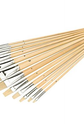 Silverline-633927-Flat-Tipped-Brush-Set-12-Pieces-0